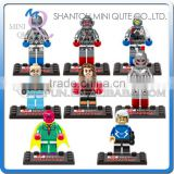 Mini Qute DARGO 8pc/set plastic Marvel Avenger Ultro Spiderman batman boys building blocks action figures educational toy NO.852