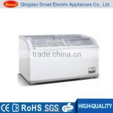 500/700L big capacity supermarket sale top open door deep type display deep chest freezer