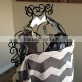 Grey Chevron Nursing Cover