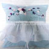 handmade ribbon embroidery cushion cover