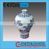 2015 new product antique blue and white porcelain vase, ceramic vase