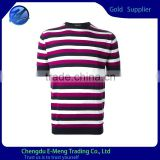 New Designed Custom O-neck Strip Men Plain T-shirt