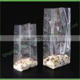 Accept Custom Order Transparent Square Bottom Side Gusset Stand Up Plastic OPP Bag                                                                         Quality Choice
