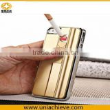Fashion USB Charger Cigar Cigaretter Lighter Metal Case For iPhone 5 5S 4 4S 6 6 plus 5.5 Businessman Style Lighter Phone Case