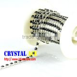 Silver plated Grade A Garment Decorative Wide Trimming Brass Crystal Rhinestone Cup chain Strass Chains