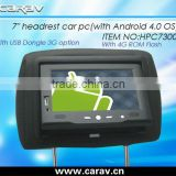Andriod 4.0 OS tablet car pc with Demo Menu for Taxi Company
