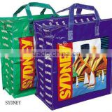 custom printing advertisement exhibition collection shopping tote carry packaging pp woven bag