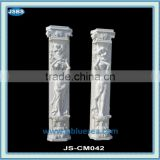 roman style stone carved marble wedding columns