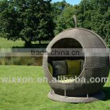 Patio Daybed, Egg Daybed, Apple Daybe, Outdoor Daybed, Rattan Daybed With Canopy&Cushions, Leisure Darbed