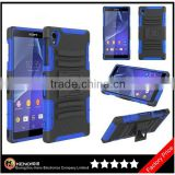 Keno Hybrid Combo Armor Case Holster Cover Phone Case for Sony Xperia Z3