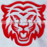 good price high quality Laser Cut Border Tiger head sew on felt Embroidery Patch For Clothing
