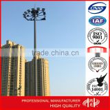 25m LED High Mast steel Lighting Poles with Lifting System for square airport lighting for sale