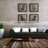 Wholesale 4 panel MDF linen prints wall decor series of canvas painting prints