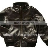 boy leather jacket garment dyed