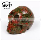 Wholesale 2inch natural Unakite Stone Hand carving Skull