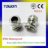 High Quality Brass cable gland IP68 PG13.5 6-12MM Metal Cable gland Waterproof Connector