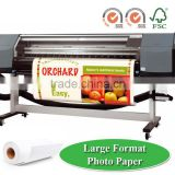 "Roll Photo Paper In Large Format Size 24"", 36"", 42"", jumbo roll For HP, Canon, Epson Inkjet printer / ISO9001, ISO14001, FSC"