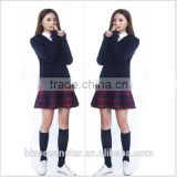 Sales girl student uniforms suit cultivate one's morality jacket v-neck sweater a red plaid skirt