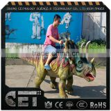 Cetnology outdoor and indoor playground equiment life size riding adult realistic dinosaur model
