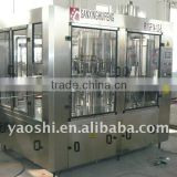 fresh fruit juice production line, soy milk filling 3 in 1 machine, rotary filling machine