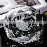 beautiful glass k9 material crystal octagon shape ashtray gift octagon shape crystal engraved ashtray