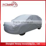Muti-function high quality plastic car cover with different size and customed printing logo