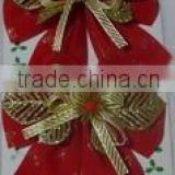 14*11CM Beautiful Bowknot For Xmas Decoration/Indoor &Outer Door Decoration