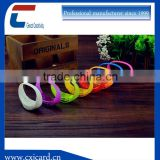 Top quality and fast delivery silicone remote control led bracelet