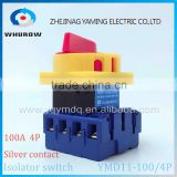 Isolator switch YMD11-100A/4P load break switch universal power cut off switch on-off changeover cam switch 8 sliver contacts