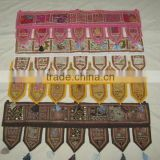 Indian Home Decorative Vintage Door Hanging Bandhanwar Toran with Embroidery Mirrorwork and Sequins Work