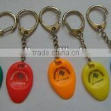 Custom make High quality injection moulding plastic lottery scrape with key ring or use for gift