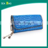 New Arrival Hot Selling Crocodile lines leather women Evening Clutch wallet