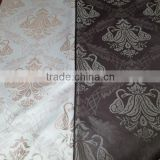 flower design leather like upholstery fabric black and white