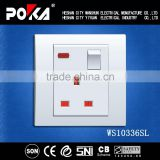 Wanshun Hot Sale 13A Single 3 pin socket electrical socket power socket, electrical power socket