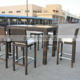 foshan factory price best selling wicker rattan Bar Chairs and table set