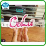 Custom viny die cut sticker for cosmetic, adhesive vinyl die cut cosmetic sticker, waterproof printing sticker