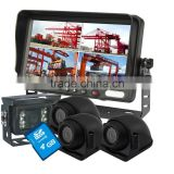 "7"" 4-Split with DVR Rear View Reverse Camera Video System For School Bus, Trucks"