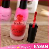 Fashion 15ml matte nail polish lacquer with brush and cap,black matte nail polish                                                                         Quality Choice