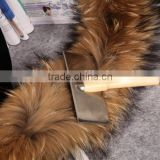 Factory Direct Fur Collar / Raccoon Fur Trim / Mens Winter Coat Fur Collar