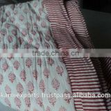 INDIA HANDBLOCK PRINTED QUILTS SUPER WARM QUILTS JAIPURMADE QUILTS KARNI QUILTS QUILTS WITH SOFT FABRICS & LIGHT WEIGHT QUILTS