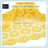 2016 yellow embroidered technics nigerian lace cord guipure fabric african high quality embroidery bridal lace fabric