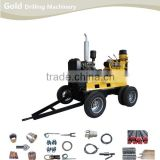 Diesel Power Driving Rotating Drilling Water Well Drilling Rig, Core Drilling Rig, Mineral Drilling Rig