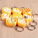 Fake Food Buns Steamers Keychain Phone Pendant Multi Styles Creative Gifts