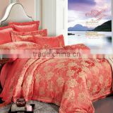 Guangzhou manufacturer king/queen/full/twin size Home Fabric textiles special bright Color Jacquard bedding set
