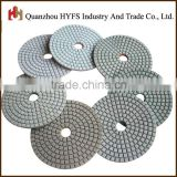 "4"" 100mm diameter granite pad white red green sharp stone polishing pads quick polishing"