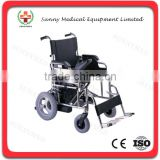 SY-R103 China products Chromed Steel Folding Frame cheap Electric Wheelchair