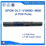 Cheap Layer 3 Route 4 PON EPON OLT Optic Fiber Networking Equipment Optical Line Terminal for FTTH Solution