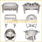 commercial stainless steel buffet chafing dish food warmer/roll top chafing dish