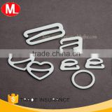 Different shaped Nylon-coated Metal bra strap adjusters bra buckle