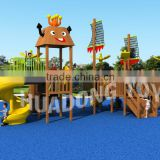 Outdoor equipment children playground,wooden slide toys